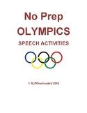 No Prep Olympics Speech Activities