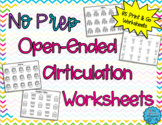 No Prep, Open Ended Articulation Worksheets for Speech Therapy