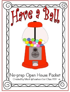 No-Prep Open House Packet- Bubble Gum