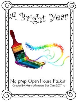 No-Prep Open House Packet - Paints