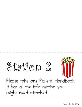 No-Prep Open House Packet - Popcorn