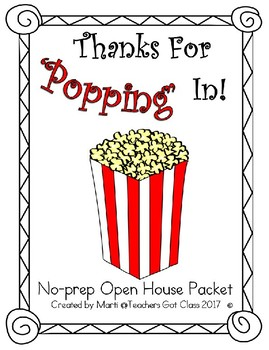 Open House Packet - Popcorn