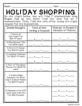No Prep Operations with Rational Numbers Holiday Activity