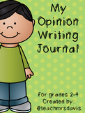 Opinion Writing Journal