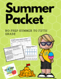 No Prep Pack Summer to Fifth Bundle