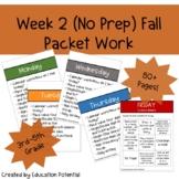 Halloween Reading Comprehension Math Writing Morning Work Packet Work