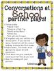 No Prep Partner Fluency Plays- Conversations at School 2nd
