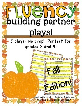 No Prep Partner Fluency Plays- Fall Edition 2nd and 3rd Grade