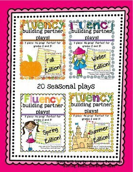 No Prep Partner Fluency Plays- FIFTY plays BUNDLE!!!! 2nd and 3rd Grade