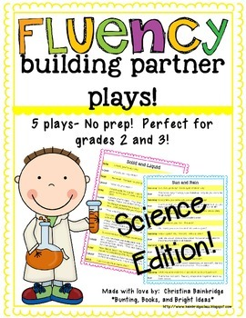 No Prep Partner Fluency Plays- Science Edition 2nd and 3rd Grade