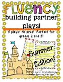 No Prep Partner Fluency Plays- Summer Edition 2nd and 3rd Grade