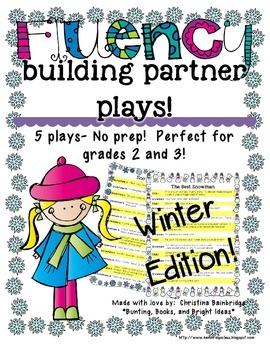 No Prep Partner Fluency Plays- Winter Edition 2nd and 3rd Grade