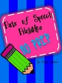 No Prep Printables for Parts of Speech {Nouns, Adjectives,