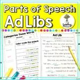 No Prep Parts of Speech Grammar Worksheets for Nouns Verbs