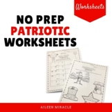 No Prep Patriotic Music Worksheets