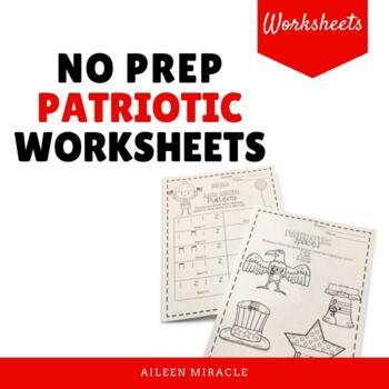No Prep Patriotic Music Worksheets