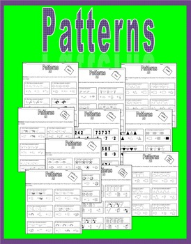 No Prep Pattern Pack - Worksheets (multiple choice)