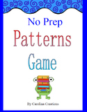 No Prep Patterns Game - Fourth Grade Common Core Math - 4.OA.C.5