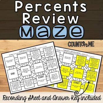 No Prep Percent Review Maze