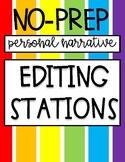 No-Prep Personal Narrative Editing Stations