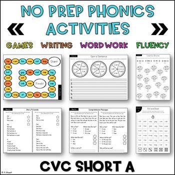 No Prep Phonics CVC Short A