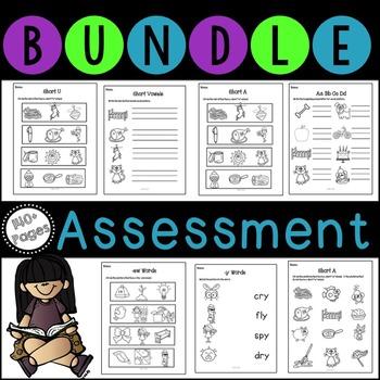 No Prep Phonics Assessment Bundle