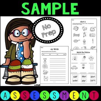 No Prep Phonics Assessment Sample
