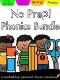 No Prep! Phonics Bundle Printables & Literacy Centers