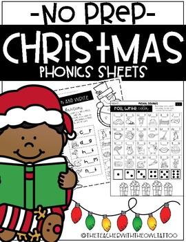 No Prep Phonics Christmas Games
