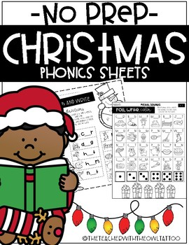 No Prep Phonics Christmas Games