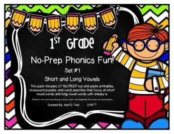 No-Prep Phonics Fun for 1st Graders: Set 1