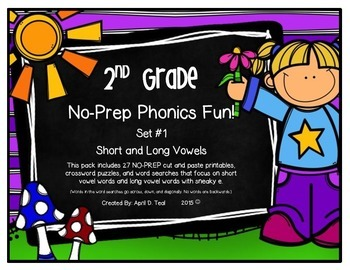 No-Prep Phonics Fun for 2nd Graders: Set 1
