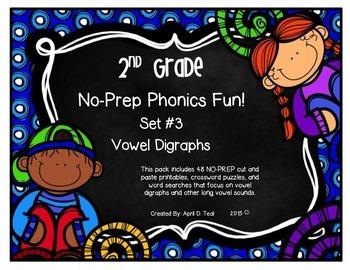 No-Prep Phonics Fun for 2nd Graders: Set 3