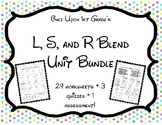 No Prep Phonics L, R, and S Blends Unit Lesson Plans Works
