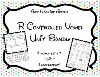 No Prep Phonics R Controlled Bossy R Unit Worksheets Assessment