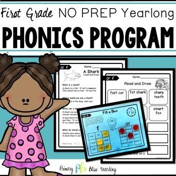 No Prep Phonics Reading Program for First Grade {Yearlong}