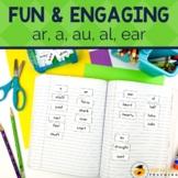 No Prep Phonics Worksheets and Activities for ar  a  au  al  ear
