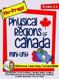 No-Prep Physical Regions of Canada Mini-Unit for Grades 3-5