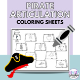 No Prep Pirate Articulation Coloring: All Sounds