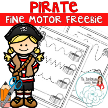 No Prep Pirate Fine Motor Freebie