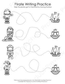 No Prep Pirate Writing Worksheets