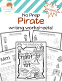 No Prep Pirate Writing Worksheets