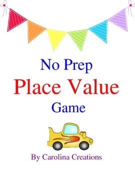 No Prep Place Value Game