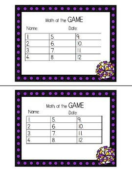No Prep Test Prep: Math at the Game