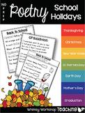 No Prep Poetry School Holidays