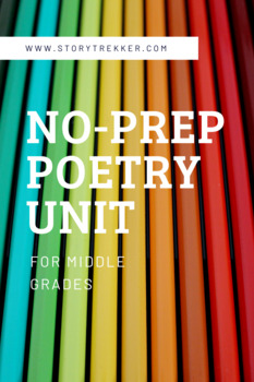 No-Prep Poetry Unit for Middle Grades