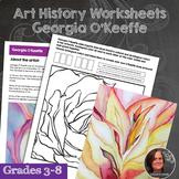 Georgia O'Keeffe Art History Workbook and Activities - Ame