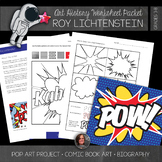 Roy Lichtenstein Art History Worksheets and Art Activities