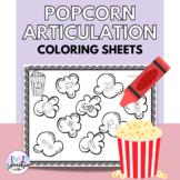 No Prep Popcorn Articulation Coloring: All Sounds