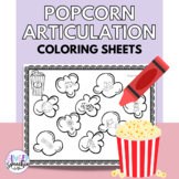 No Prep Popcorn Articulation Coloring: All Sounds